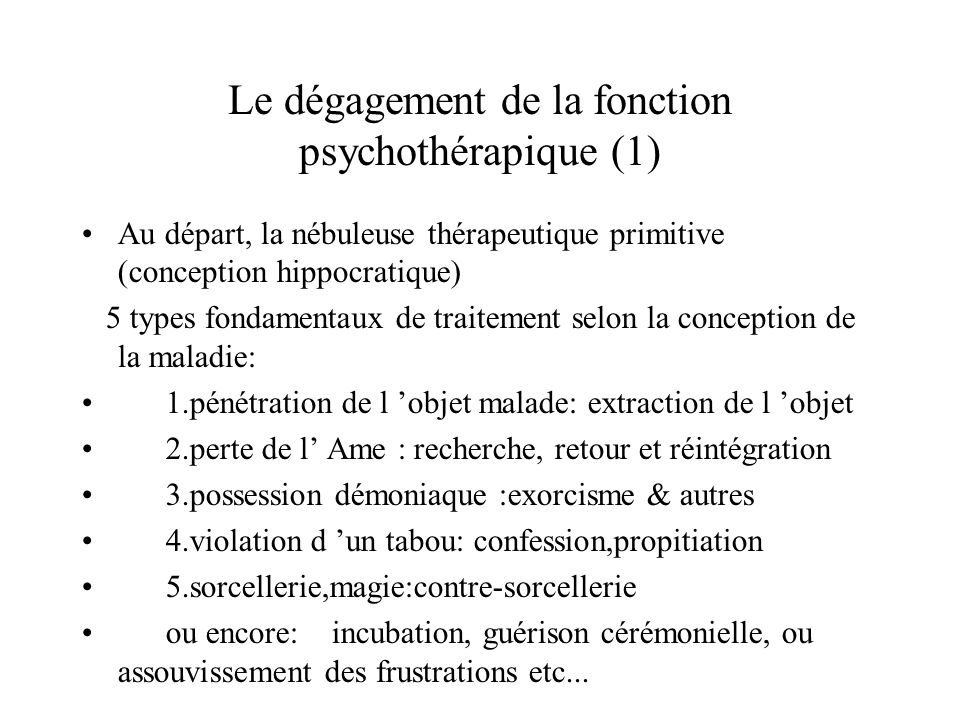 Psychothérapies de groupe Groupes de parole (alcool,addictions) TCC de groupe(confronte entre dep,toc,tca) Groupes de réhabilitation de patients schizo.