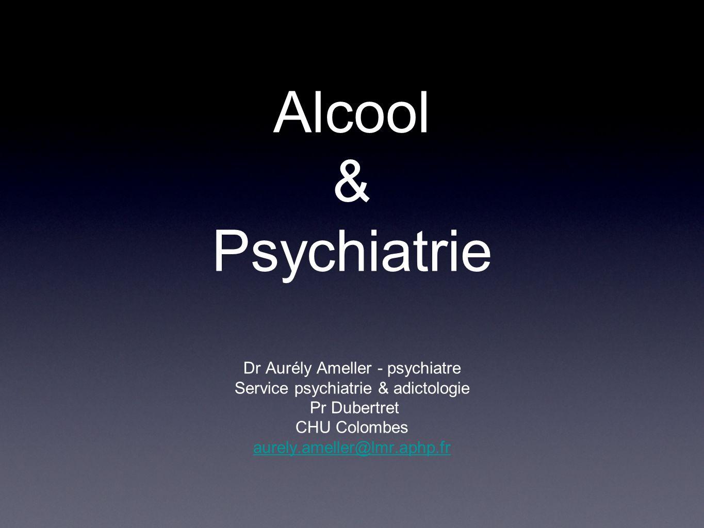 Plan Ivresses (simple et compliquée) Sevrage Différents types de consommation Troubles psychiatriques induits par alcool Comorbidités psychiatrie - alcool