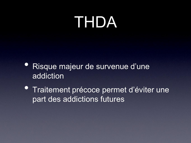 THDA Risque majeur de survenue dune addiction Traitement précoce permet déviter une part des addictions futures
