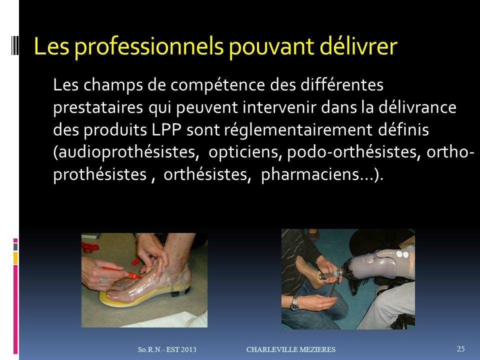Les professionnels pouvant délivrer Les champs de compétence des différentes prestataires qui peuvent intervenir dans la délivrance des produits LPP sont réglementairement définis (audioprothésistes, opticiens, podo-orthésistes, ortho- prothésistes, orthésistes, pharmaciens…).