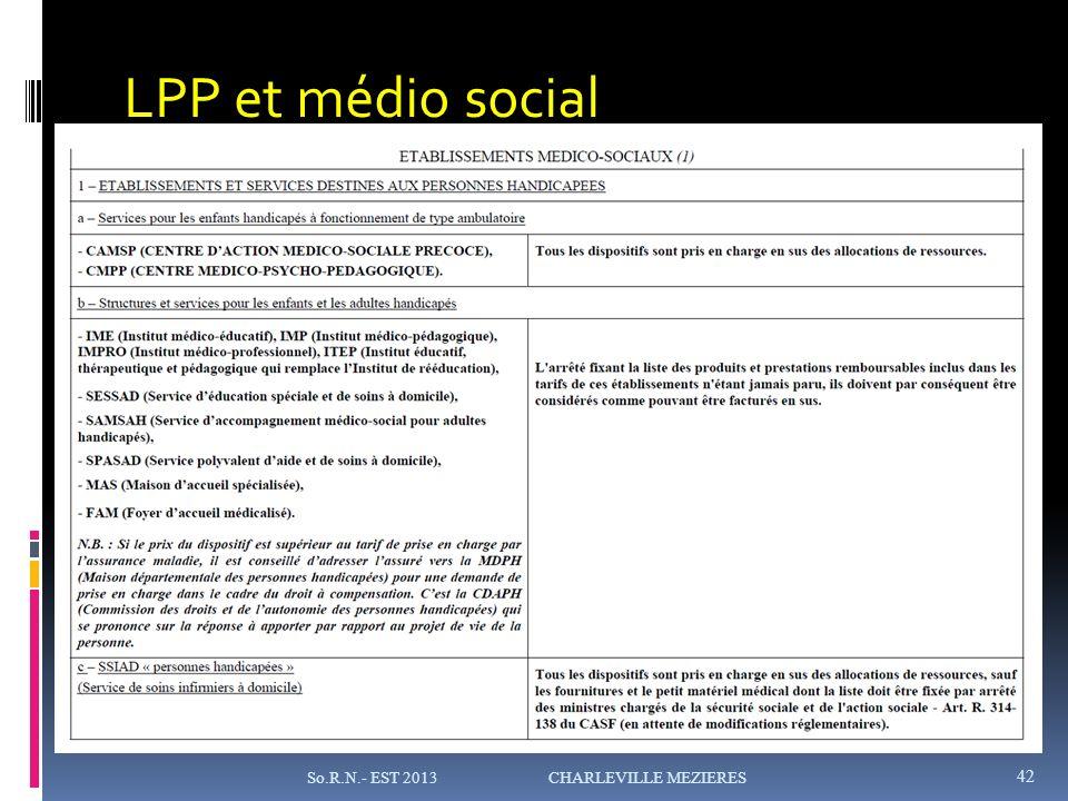 LPP et médio social So.R.N.- EST 2013 CHARLEVILLE MEZIERES 42