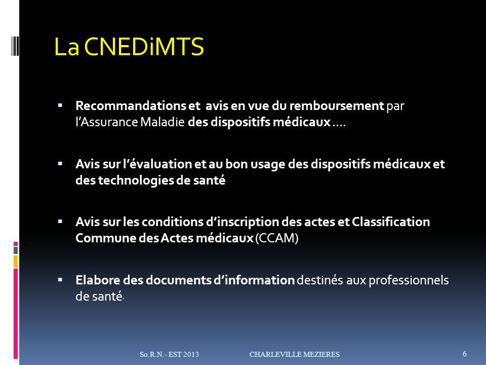 La CNEDiMTS Recommandations et avis en vue du remboursement par lAssurance Maladie des dispositifs médicaux ….