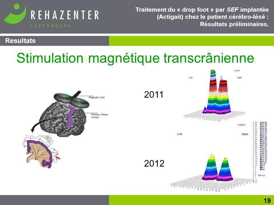 Resultats 19 Traitement du « drop foot » par SEF implantée (Actigait) chez le patient cérébro-lésé : Résultats préliminaires.