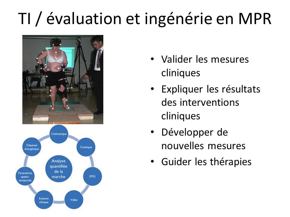 Valider les mesures cliniques Expliquer les résultats des interventions cliniques Développer de nouvelles mesures Guider les thérapies