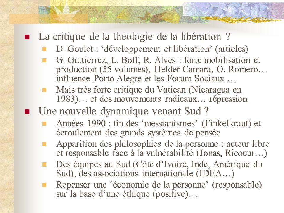 La critique de la théologie de la libération . D.