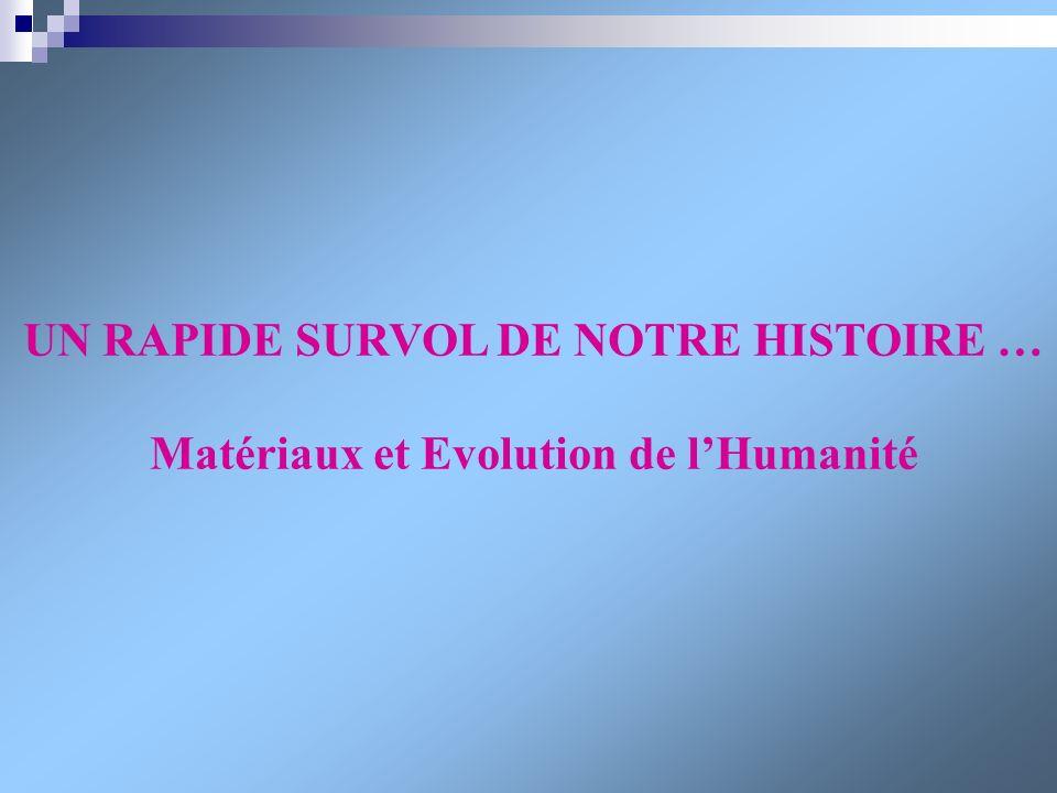 UN RAPIDE SURVOL DE NOTRE HISTOIRE … Matériaux et Evolution de lHumanité