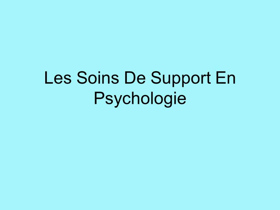 Les Soins De Support En Psychologie