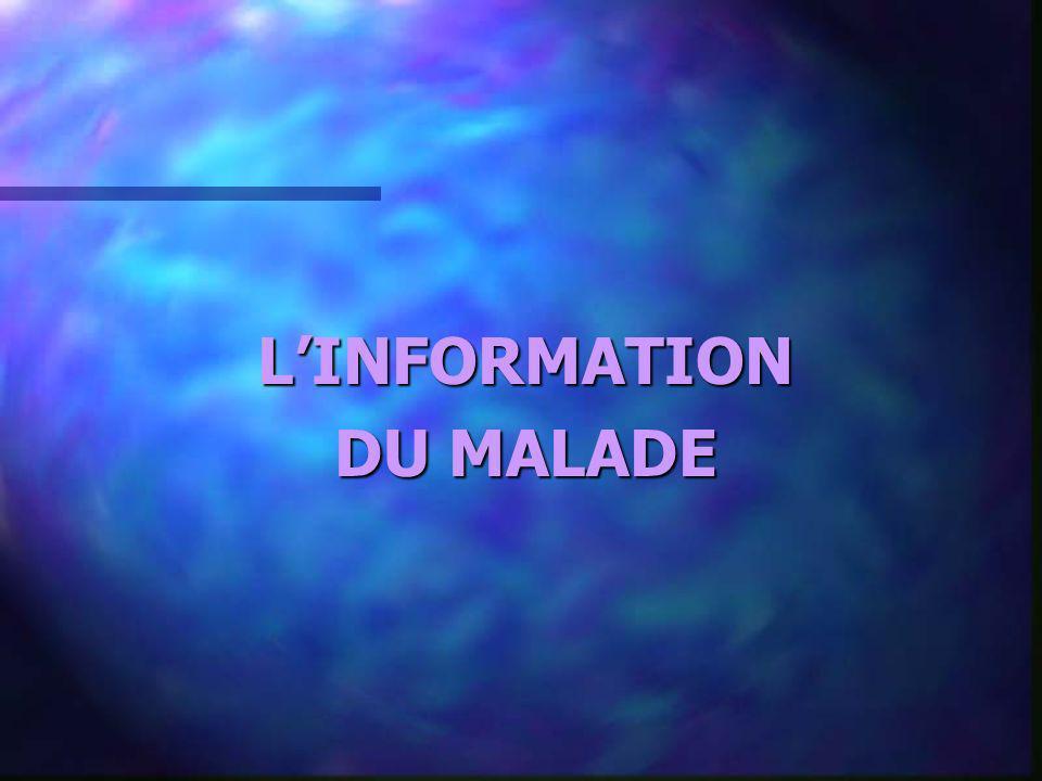 LINFORMATION DU MALADE