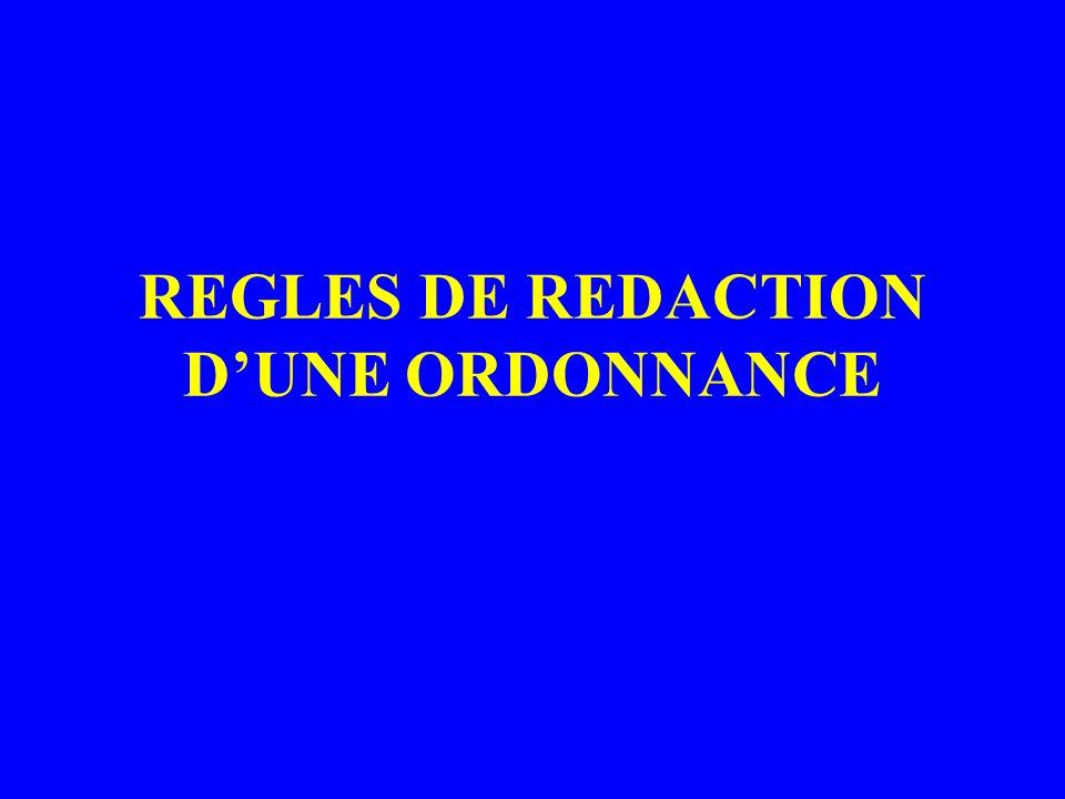 REGLES DE REDACTION DUNE ORDONNANCE