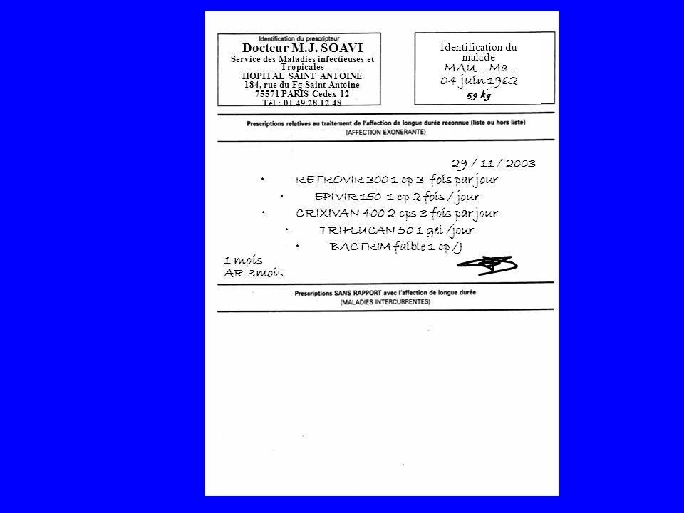 Docteur M.J. SOAVI Service des Maladies infectieuses et Tropicales HOPITAL SAINT ANTOINE 184, rue du Fg Saint-Antoine 75571 PARIS Cedex 12 Tél : 01.49