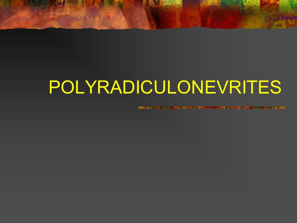 POLYRADICULONEVRITES