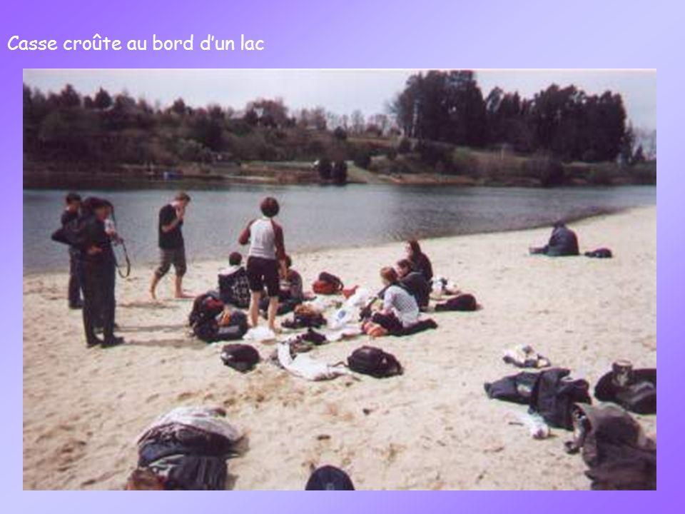 Casse croûte au bord dun lac