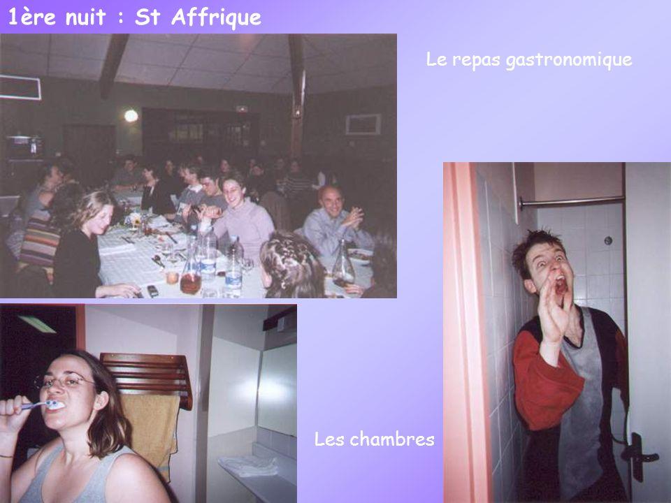 1ère nuit : St Affrique Le repas gastronomique Les chambres