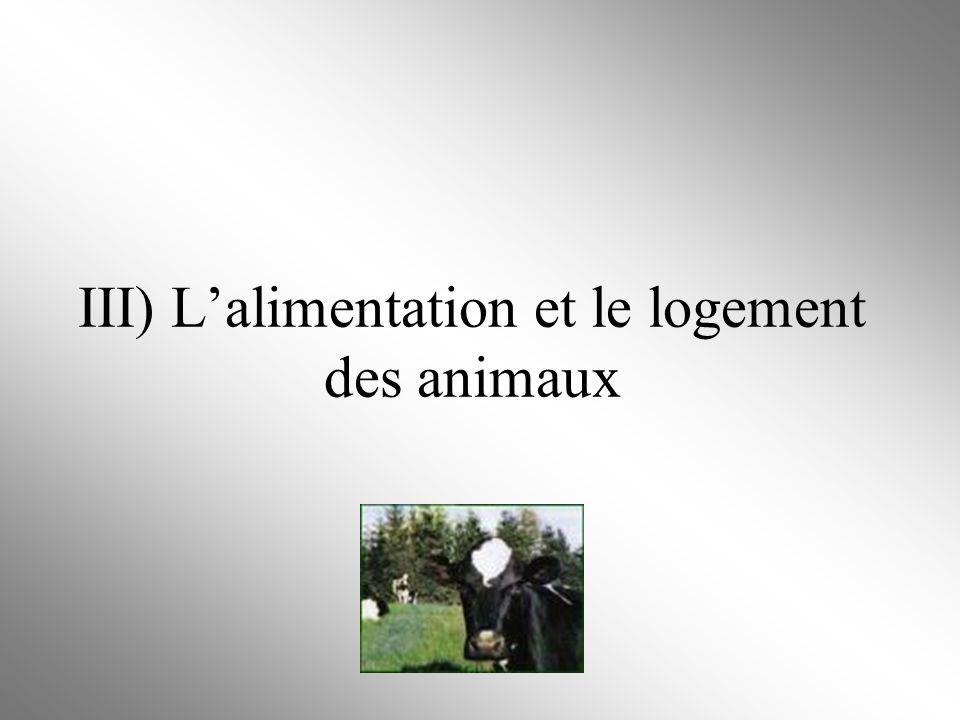 III) Lalimentation et le logement des animaux