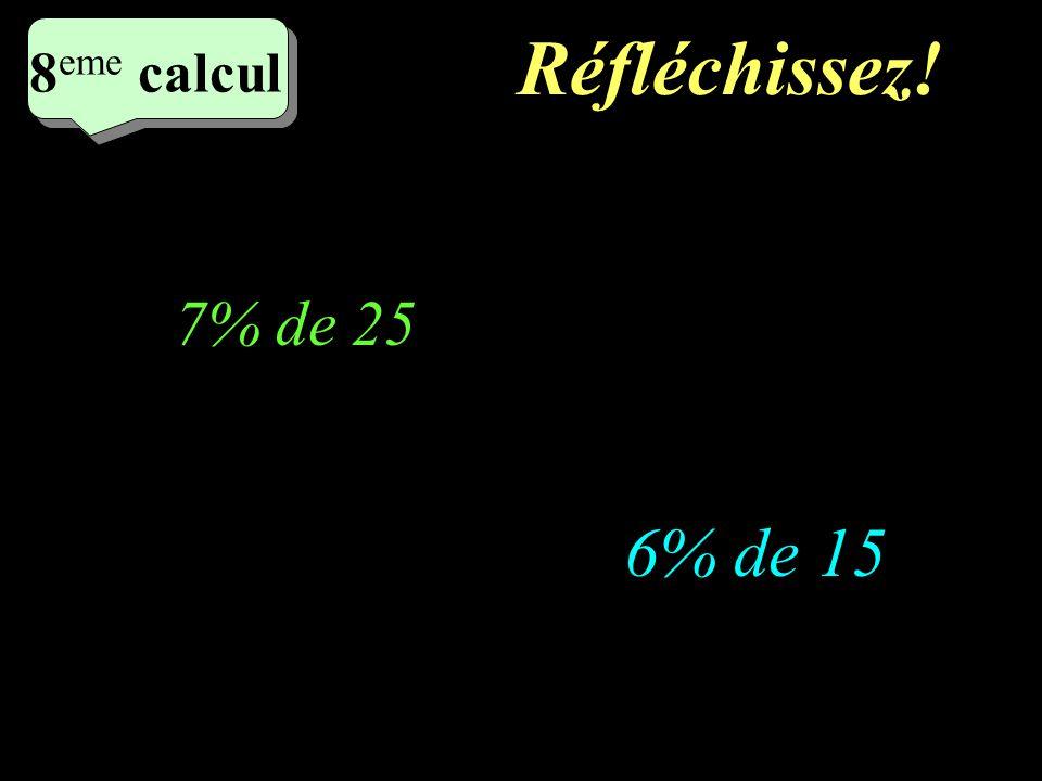 Ecrivez! 7 eme calcul 7 eme calcul 7 eme calcul 15% de 30 15% de 40
