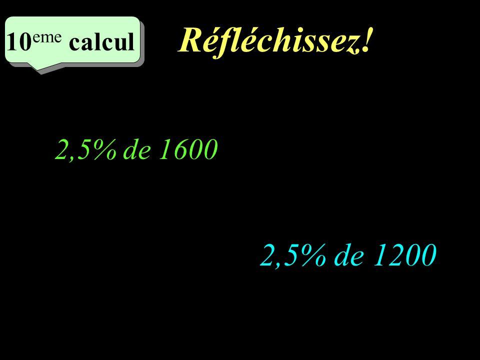 Ecrivez! 9 eme calcul 9 eme calcul 9 eme calcul 3% de 1500 4% de 1600