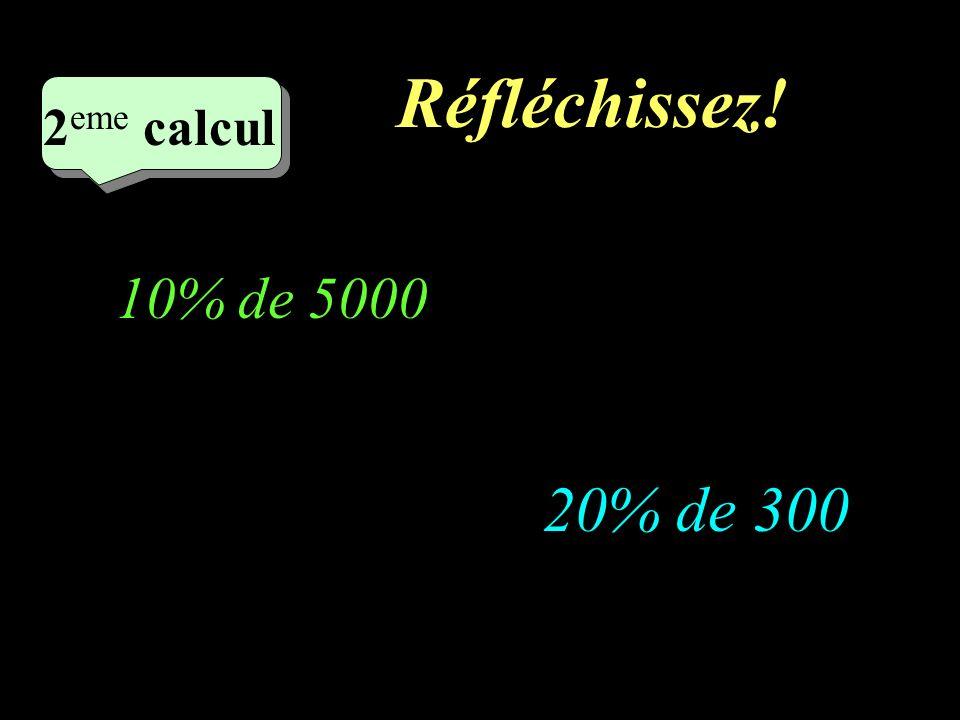Ecrivez! –1–1 1 er calcul 1 er calcul 1 er calcul 5% de 30 3% de 50