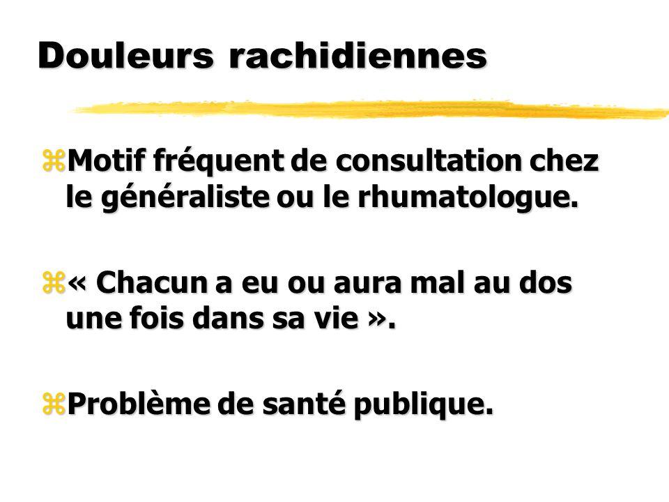 Radiculalgies zInterrogatoire. zExamen clinique. zPrincipaux diagnostics étiologiques.