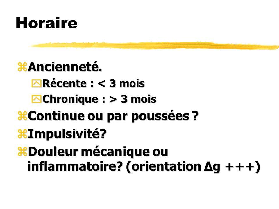 Mobilisation zAntéflexion / Extension / Inflexion latérale.