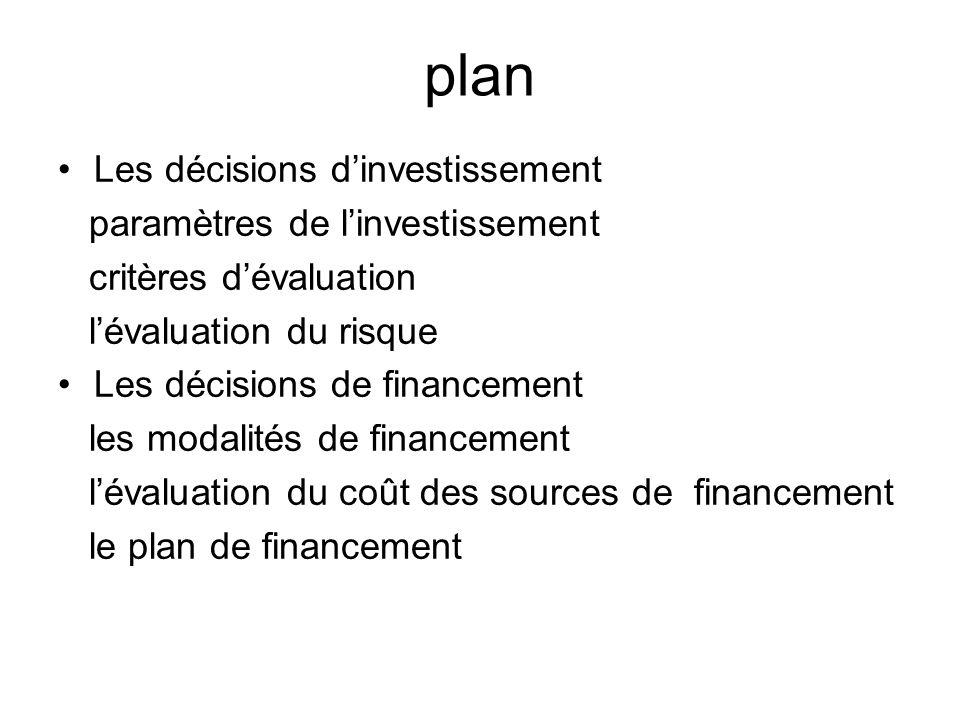 Décisions dinvestissement Décisions importantes et difficiles 1.