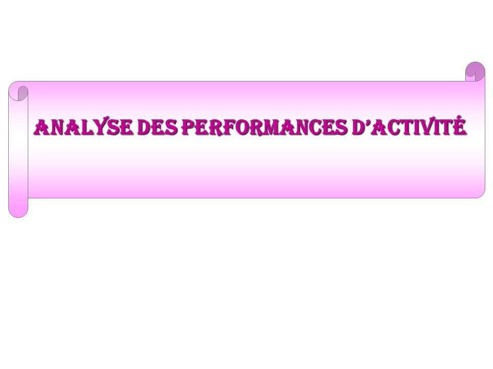 analyse des performances dactivité