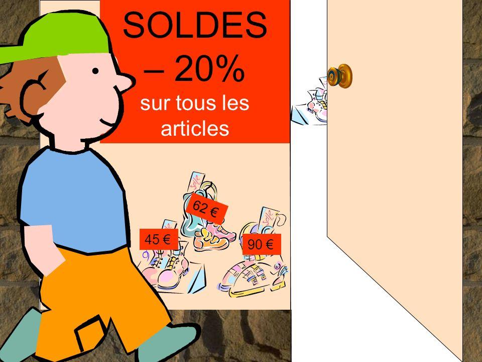 SOLDES – 20% sur tous les articles 45 90 62..