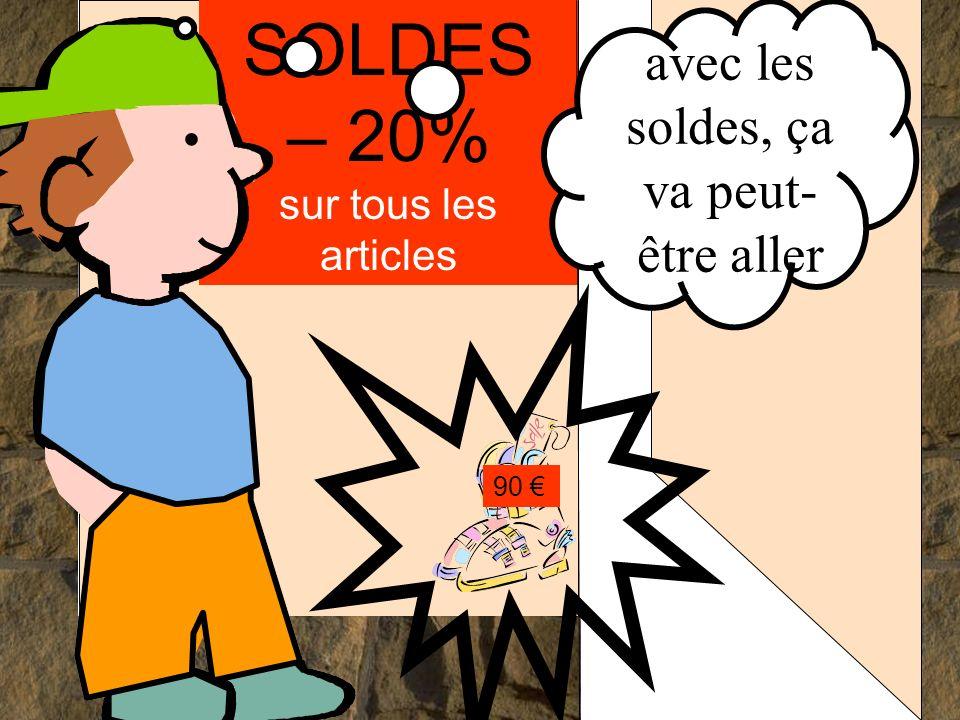 SOLDES – 20% sur tous les articles 90....