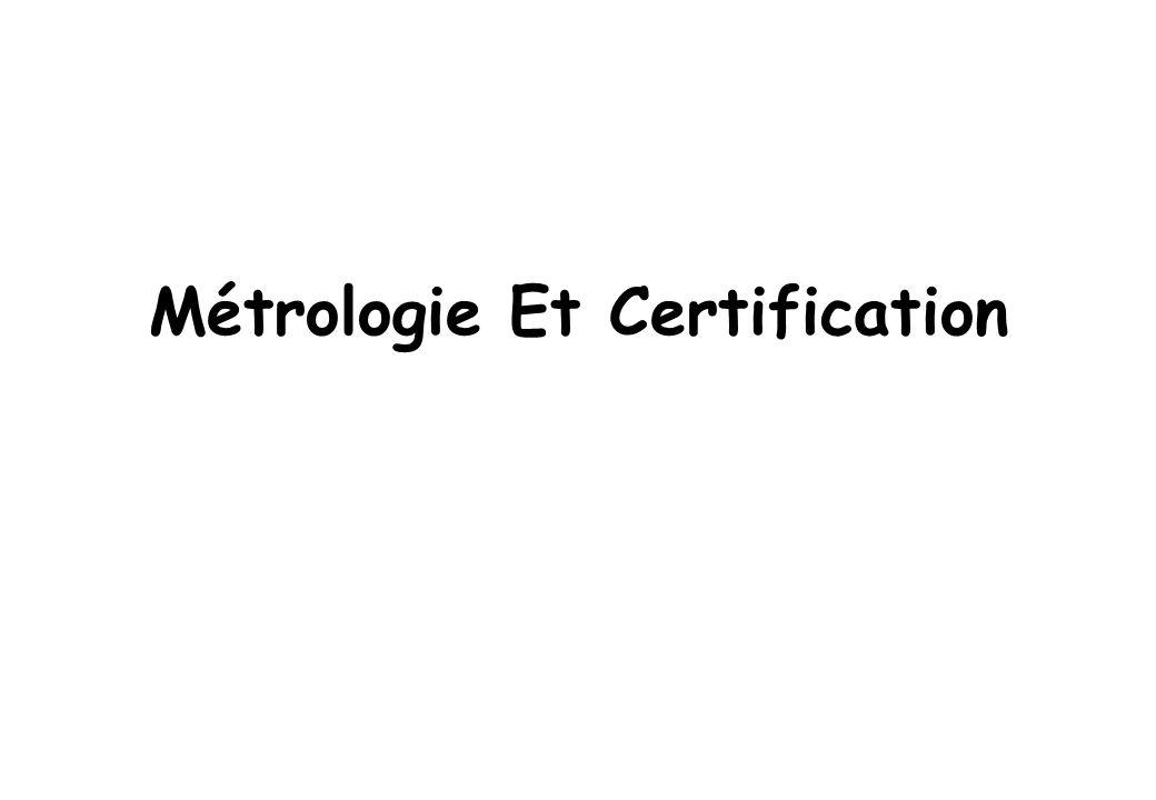 Métrologie Et Certification