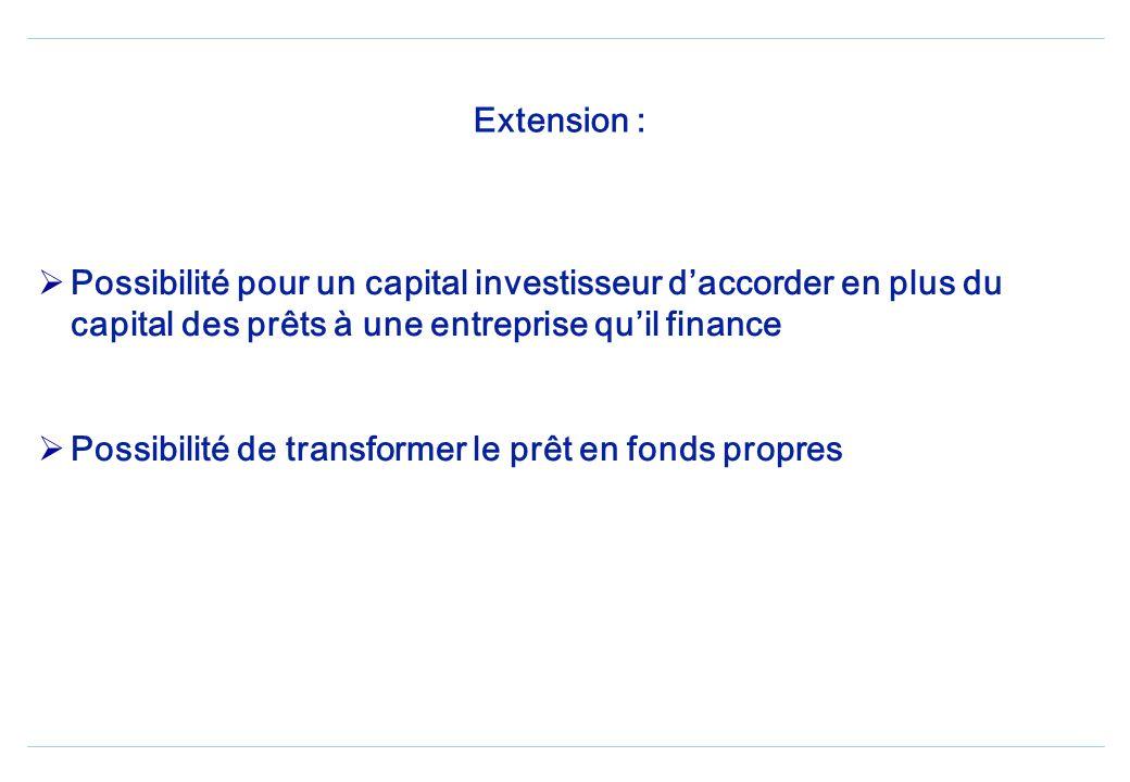 Capital Investissement - Pour quels besoins ? PME en création PME en développement à un niveau dendettement élevé PME dont les garanties réelles et pe