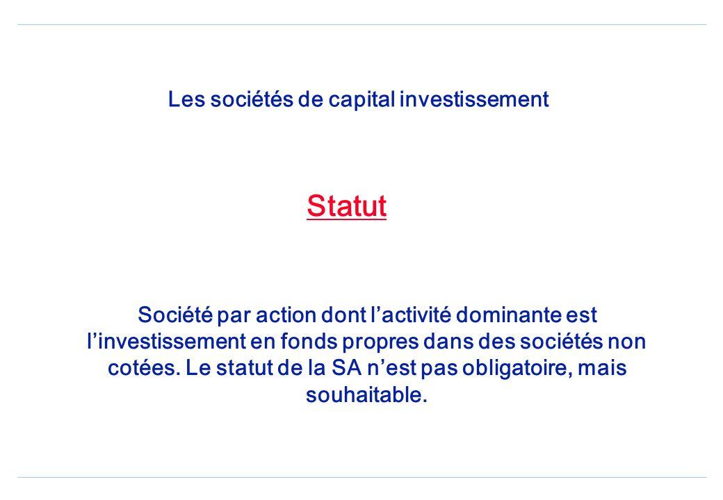 Le capital-investissement Né le lendemain de la guerre mondiale, il consiste à prendre des investissements minoritaires dans des sociétés non cotées a