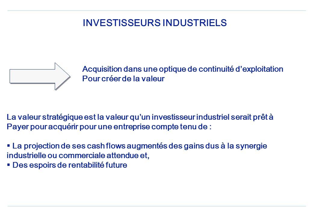 INVESTISSEURS FINANCIERS Une analyse de lacquisition de lentreprise cible comme Une opportunité dinvestissement