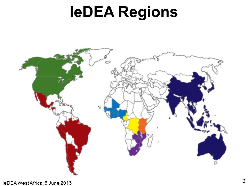 IeDEA West Africa, 5 June 2013 3 IeDEA Regions