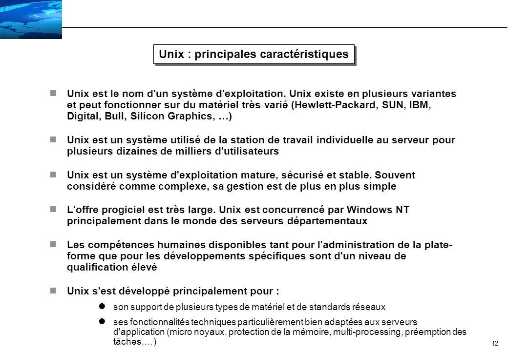 13 Windows NT : principales caractéristiques nLe système d exploitation Windows NT est très majoritairement installé sur des ordinateurs construits autour de la famille de processeur Intel Pentium nNT est un système utilisé de la station de travail individuelle au serveur pour 2000 utilisateurs nNT est un système d exploitation reprenant l interface utilisateur graphique de Windows.