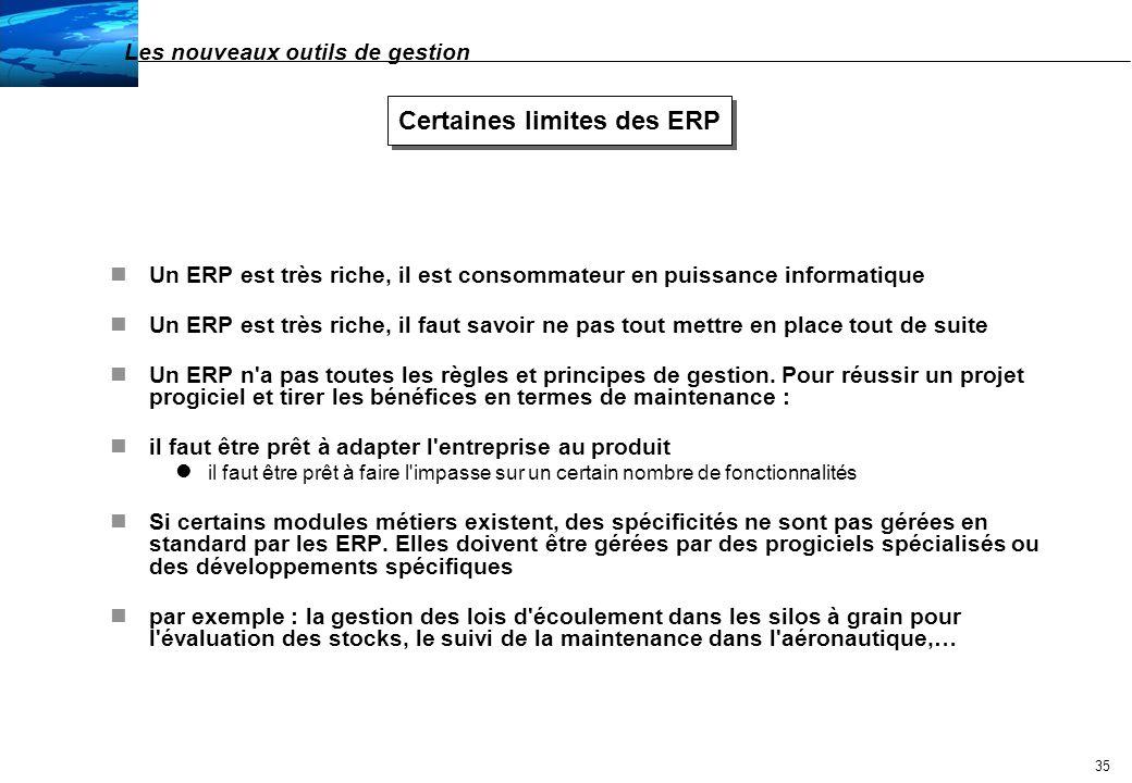 36 Un ERP est-il adapté à toute entreprise : critères de choix nL intégration fonctionnelle et technique sont-elles des plus pour l entreprise .