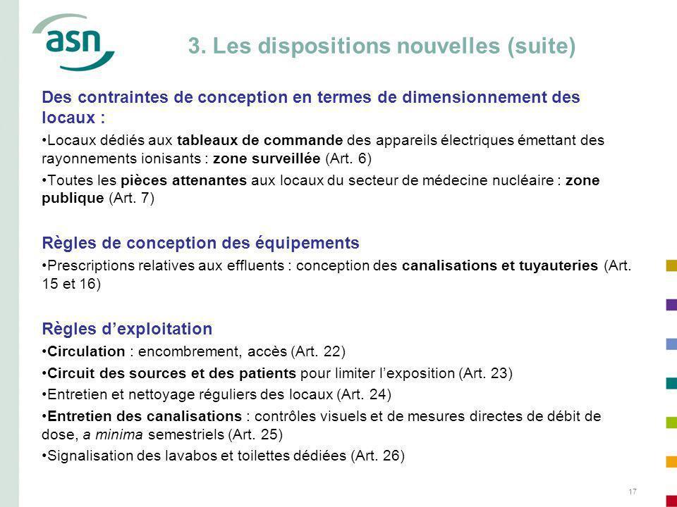 17 Des contraintes de conception en termes de dimensionnement des locaux : Locaux dédiés aux tableaux de commande des appareils électriques émettant des rayonnements ionisants : zone surveillée (Art.