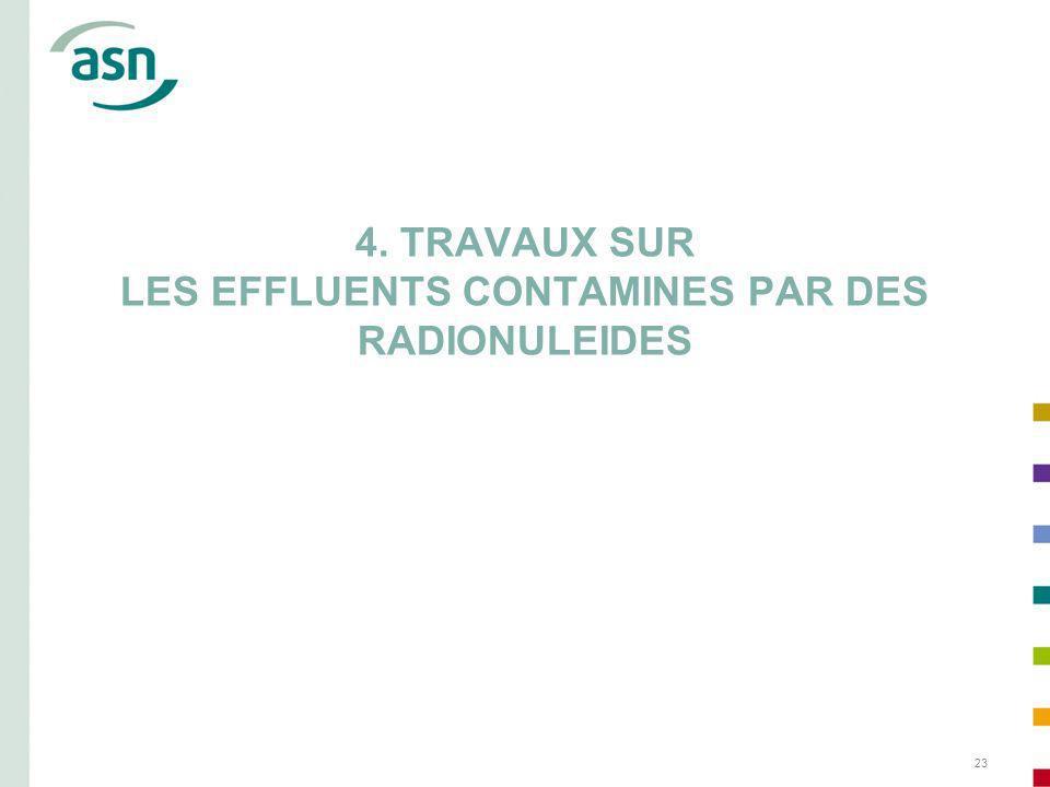 23 4. TRAVAUX SUR LES EFFLUENTS CONTAMINES PAR DES RADIONULEIDES
