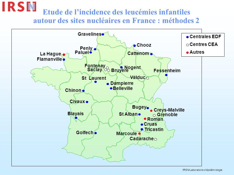 IRSN/Laboratoire dépidémiologie Etude de lincidence des leucémies infantiles autour des sites nucléaires en France : méthodes 2 Gravelines Paluel St L