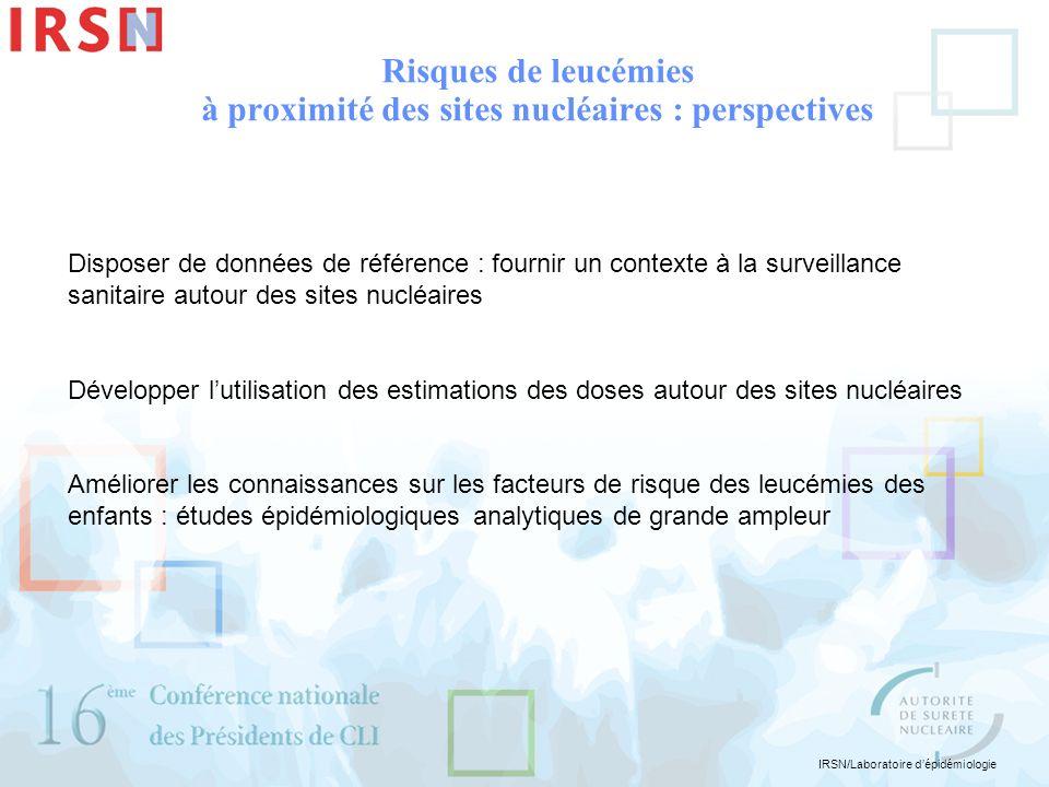 IRSN/Laboratoire dépidémiologie Disposer de données de référence : fournir un contexte à la surveillance sanitaire autour des sites nucléaires Dévelop