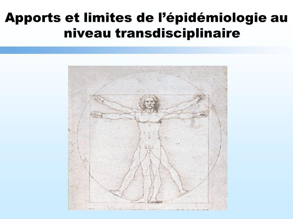Apports et limites de lépidémiologie au niveau transdisciplinaire