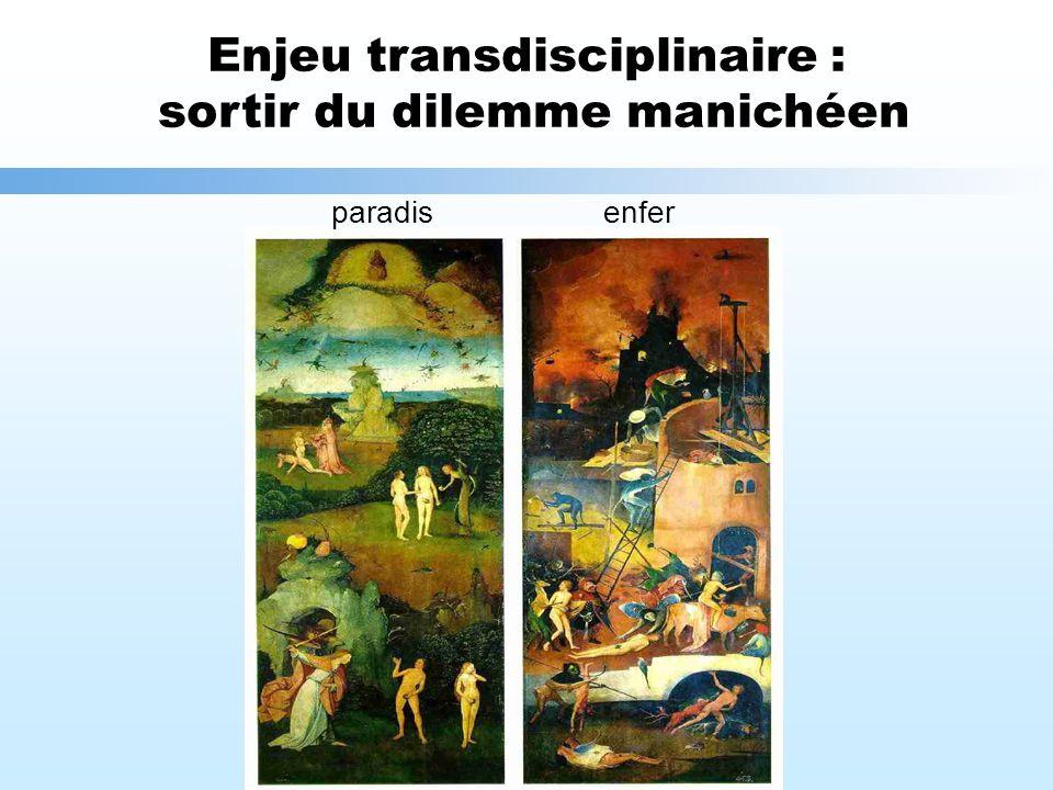 Enjeu transdisciplinaire : sortir du dilemme manichéen enferparadis