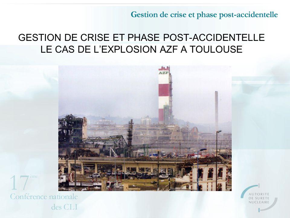 GESTION DE CRISE ET PHASE POST-ACCIDENTELLE LE CAS DE LEXPLOSION AZF A TOULOUSE