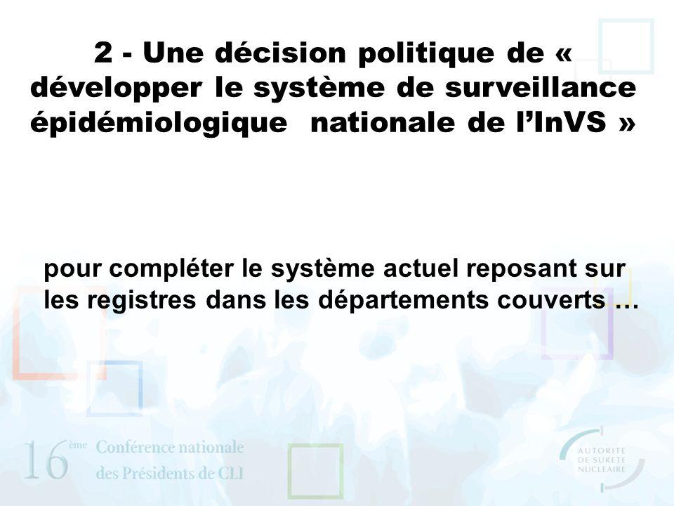 2 - Une décision politique de « développer le système de surveillance épidémiologique nationale de lInVS » pour compléter le système actuel reposant s