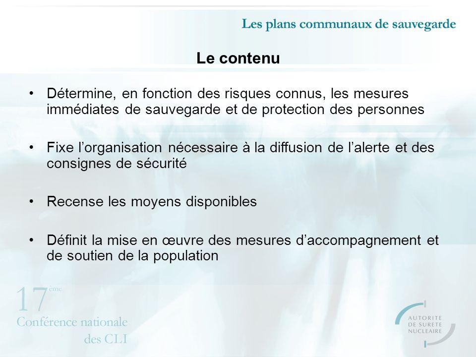 Le contenu Détermine, en fonction des risques connus, les mesures immédiates de sauvegarde et de protection des personnes Fixe lorganisation nécessair