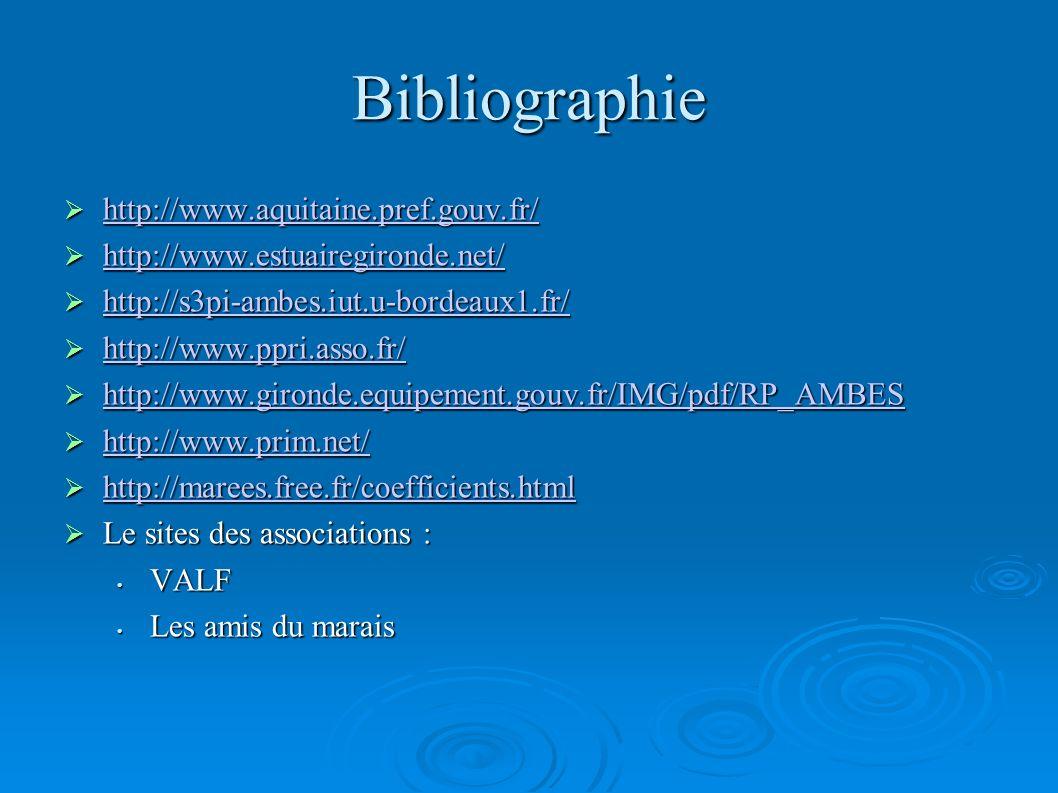 Bibliographie http://www.aquitaine.pref.gouv.fr/ http://www.aquitaine.pref.gouv.fr/ http://www.aquitaine.pref.gouv.fr/ http://www.estuairegironde.net/