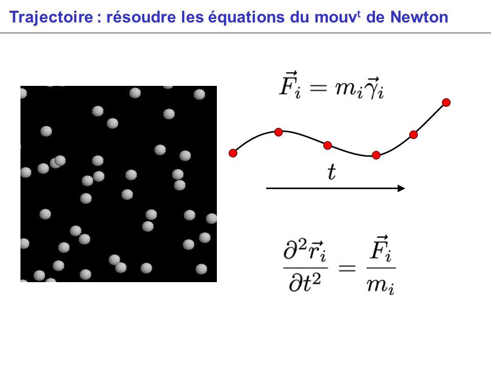 Trajectoire : résoudre les équations du mouv t de Newton