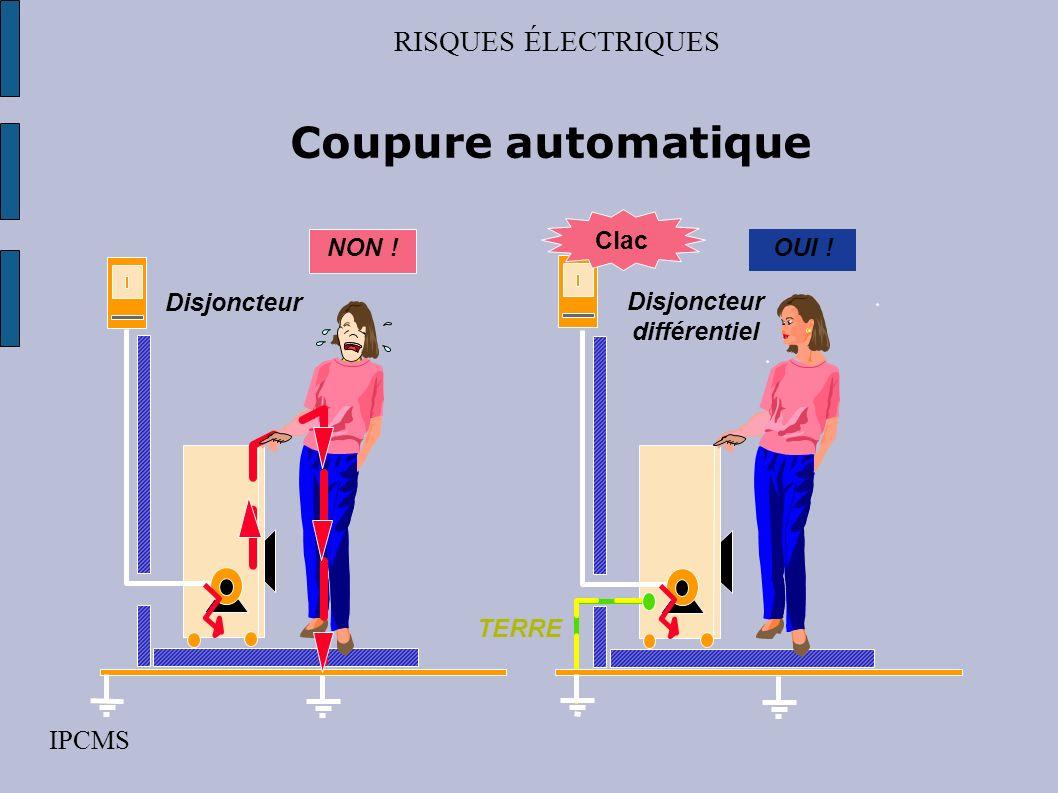 RISQUES ÉLECTRIQUES IPCMS Les mesures de protection contre les contacts indirects par coupure automatique par lemploi de matériel de classe 2 par sépa