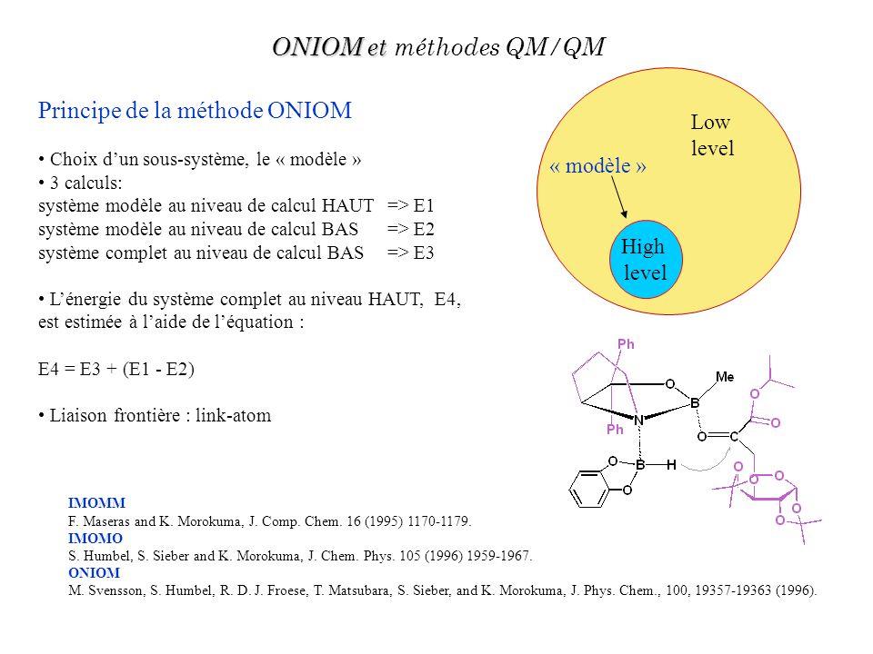 IMOMM F. Maseras and K. Morokuma, J. Comp. Chem. 16 (1995) 1170-1179. IMOMO S. Humbel, S. Sieber and K. Morokuma, J. Chem. Phys. 105 (1996) 1959-1967.
