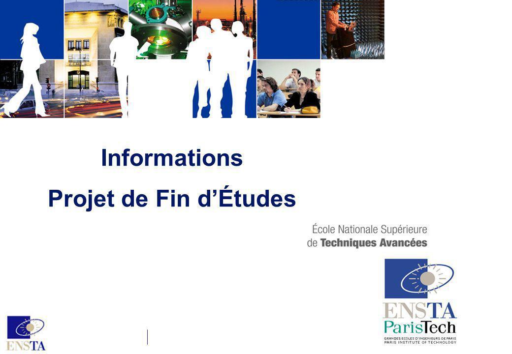 Informations Projet de Fin dÉtudes