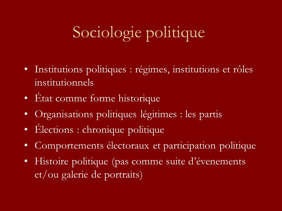 « Politique » .3 termes anglo-saxons : polity, politics, policy /policies Def.