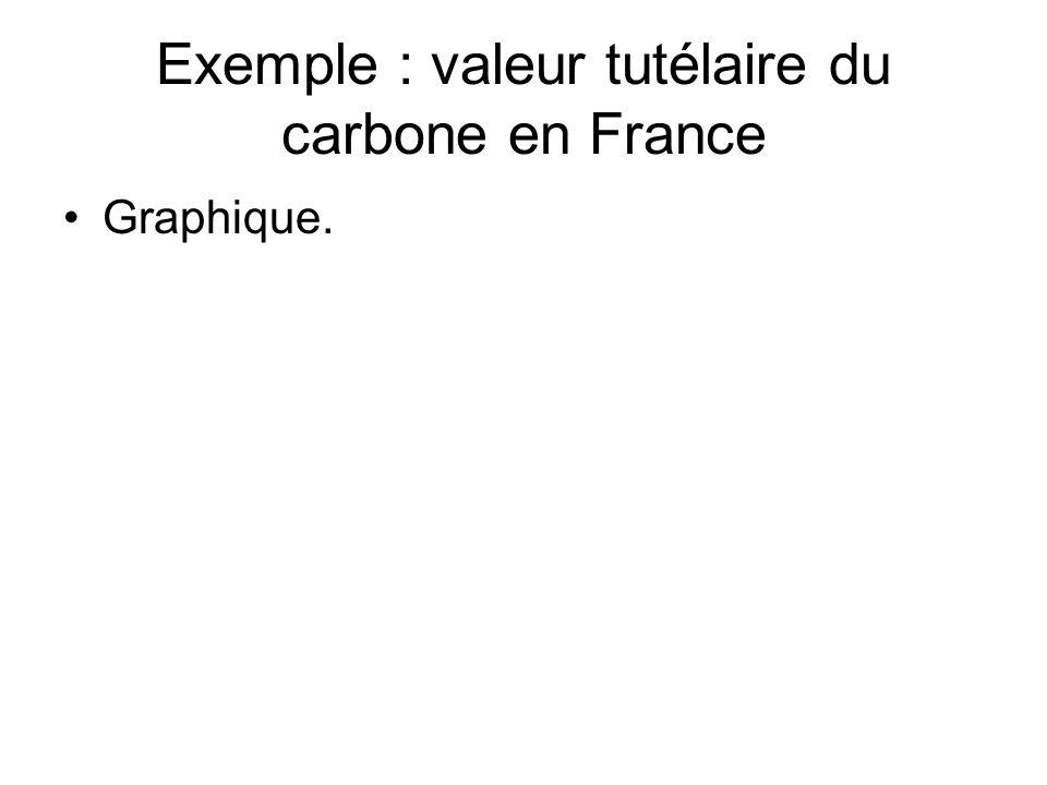 Exemple : valeur tutélaire du carbone en France Graphique.